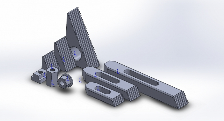 Clamping Kit CAD for CNC